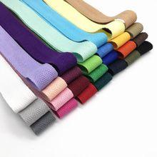 Fita de 20mm de largura, fita de cor pura 100% algodão, correia trançada 2cm, mochila diy, material feito à mão 10 jardas