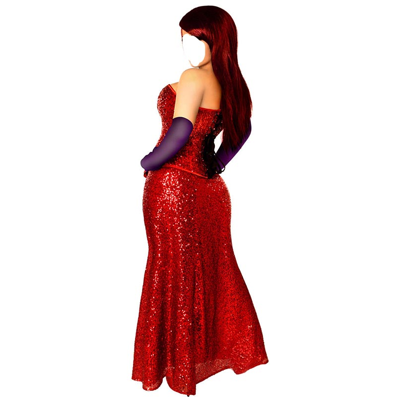 Who Framed Roger Rabbit Jessica Rabbit cosplay costume red dress ...