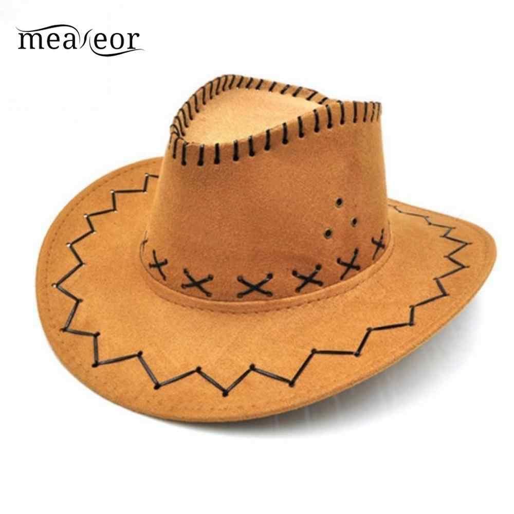 Detalle Comentarios Preguntas sobre Meaneor vaca niños tapas Cassical niñas  vaquero occidental sombrero con ala ancha Punk Correa vaquera Jazz gorra de  sol ... d2a051fa87d