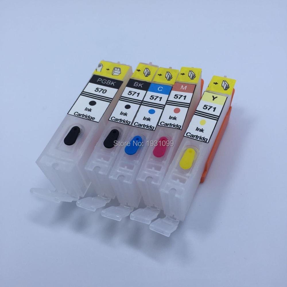 YOTAT Refillable PGI-570 CLI-571 ink cartridge PGI570 CLI571 For Canon PGI-570XL CLI-571XL for Canon PIXMA MG5750 MG5751 MG5752 free shipping pgi 350 cli 351 ink cartridge for canon ip7230 mg5430 mx723 mx923 pgi 350