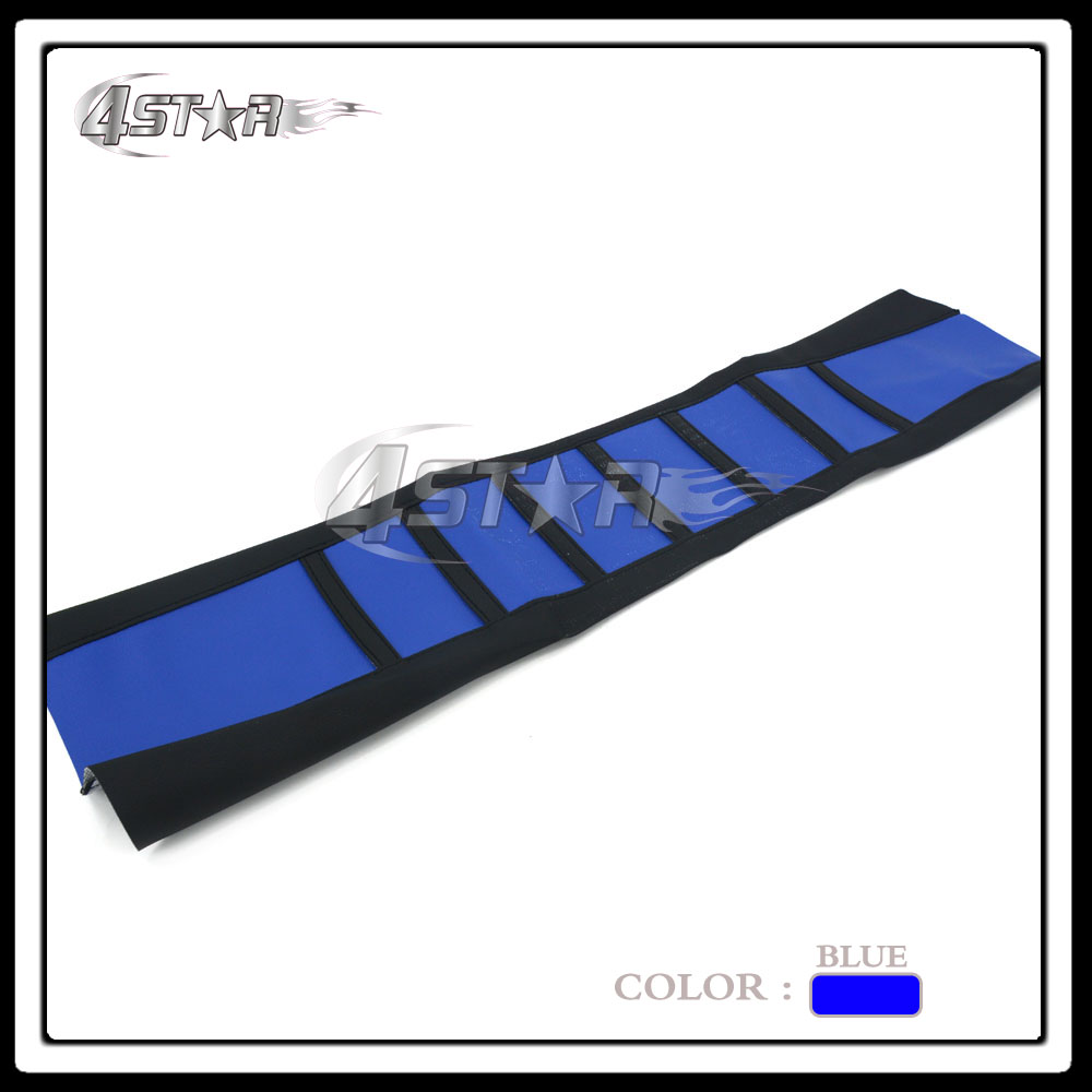 Blue And Black Rubber Vinyl Motorcycle Gripper Soft-Grip Seat Cover For YZ YZF 125 250 400 426 450 Motocross Dirt Bike