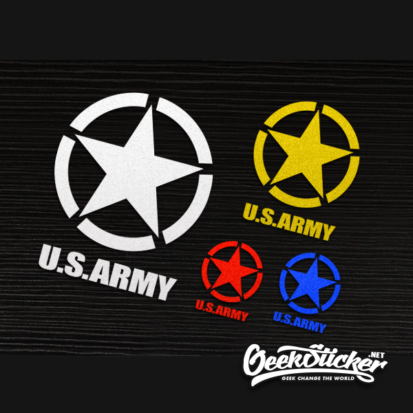 Waterproof reflective universal car the whole body sticker us army star usmc ww2 vinyl car decal