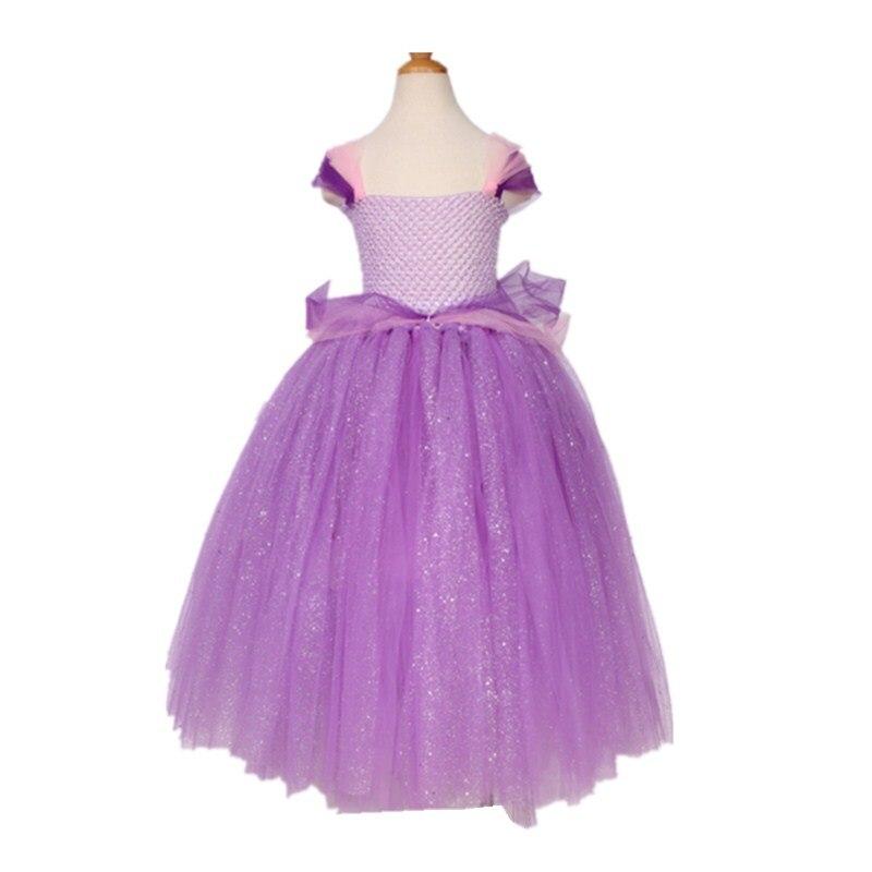 new style girls dress light Purple sequins tutu dress for ...