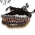 Anil arjandas cadeia corda artesanal macrame pulseiras bangles africano micro pave zircão cristal talão pulseira homem mulher jóias