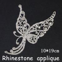 Rhinestone Trim Sale 2014 New Dress Applique Hi Q Wedding Accessories1pcs Lot 10 19cm Crystal Sew