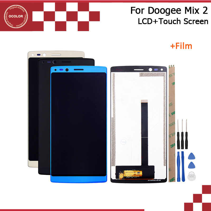 ocolor For Doogee Mix 2 LCD Display and Touch Screen 5.99 Inch For Doogee Mix 2 Phone Accessory With Tools And Adhesive +Film