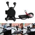 X-Aderência Da Motocicleta Bicicleta Car Mount Titular Carregador USB Para Telefone Celular GPS