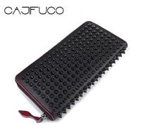 Japan And Korean Style Money Clip Luxury Women Long Stud Wallet Genuine Leather Chic Designer Standard