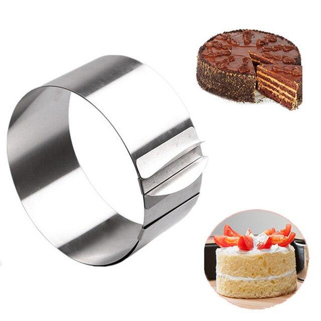 16-30 см регулируемая нержавеющая сталь торт плесень печенье с жидкой помадкой в центре мусс кольцо для выпечки и тортов плесень круглый торт украшения инструменты