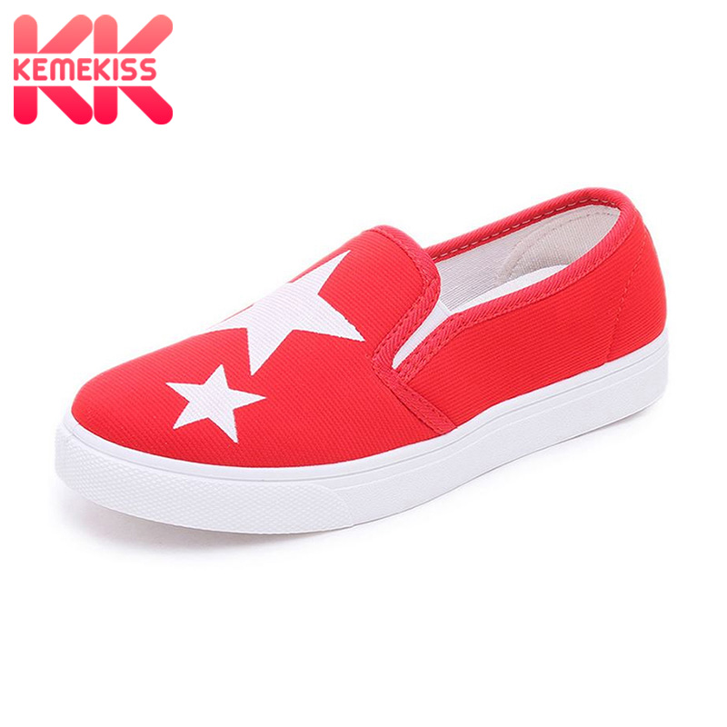 KemeKiss Ladies canvas Shoes Fashion Tide Style Spring Summer Women Flat Shoes Slip on Breathable Women's Shoes Flats Size 35-40 summer breathable hollow casual shoes women slip on platform flats shoes fashion revit height increasing women shoes h498 35