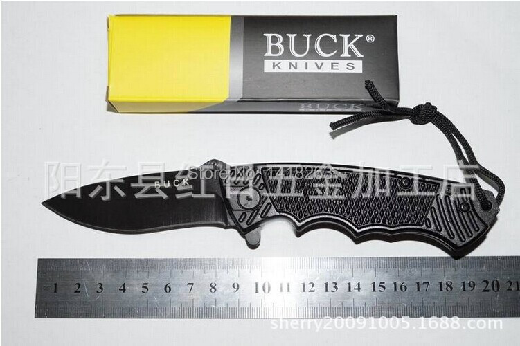Hot Selling BUCKB37 Small Survival Camping Hunting Fixed Blade font b Tactical b font font b