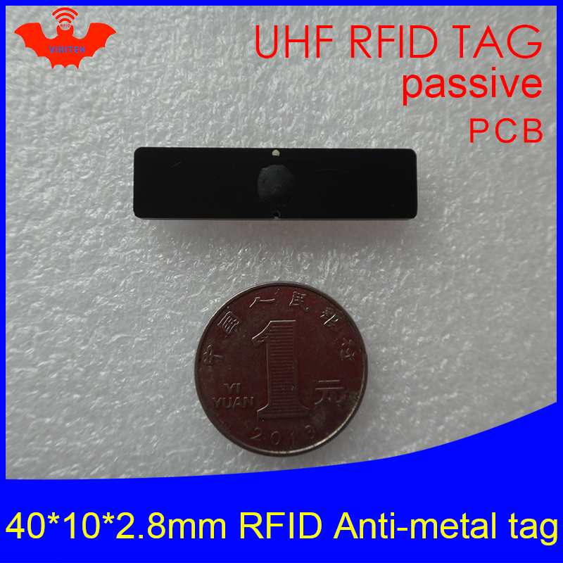 UHF RFID Anti Metal Tag 915m 868m Alien Higgs3 EPCC1G2 6C 40*10*2.8mm IT Assets Small Rectangle PCB Smart Card Passive RFID Tags