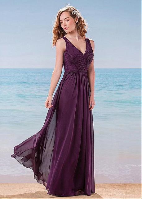 Grape Chiffon Dresses