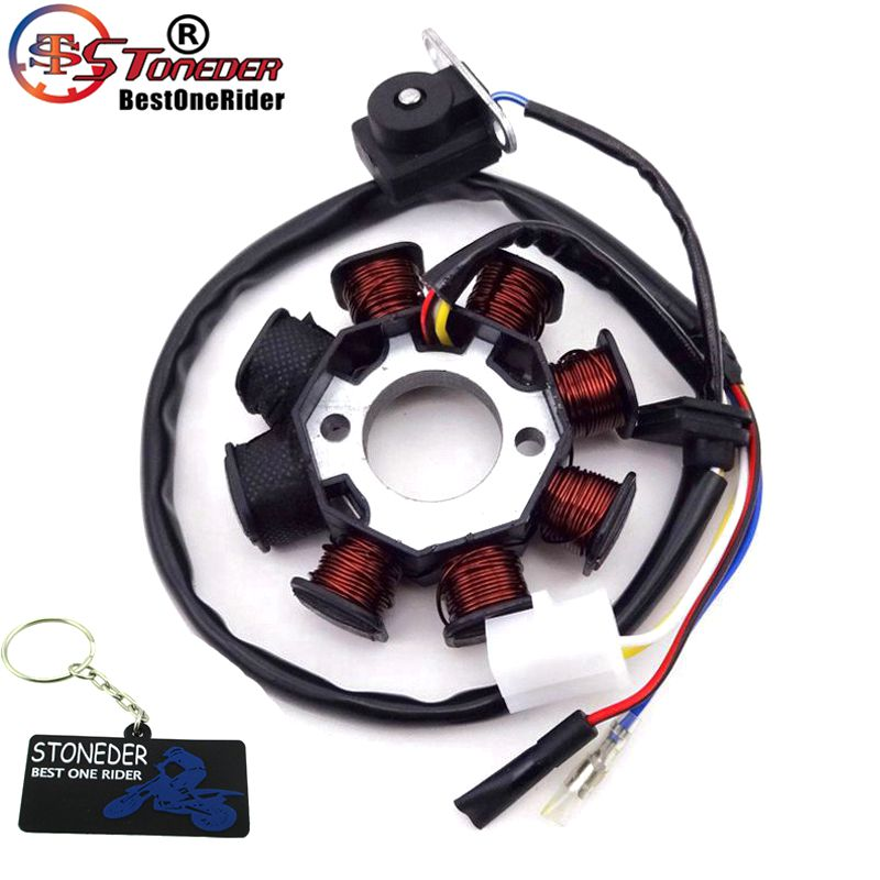 US $15 29 19% OFF|STONEDER 8 Coils Magneto Stator For GY6 49cc 50cc Engine  Sunl Roketa Vespa Jonway Znen Jmstar Kazuma Chinese Moped Scooter-in