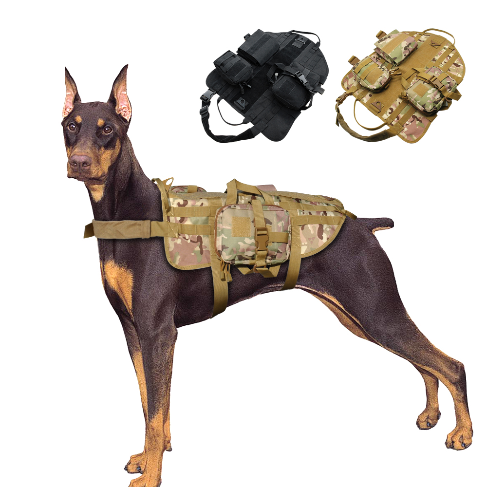 Military Working Dog Harness K9 Molle Tactical German Shepherd Vest Police Dogs