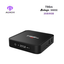 MEMOBOX T95M Android 6.0 Smart TV Box Amlogic S905X 64 bit Quad Core 4 K 2 K H.265 Media Player support 4 K Airplay WiFi Bluetooth(China)