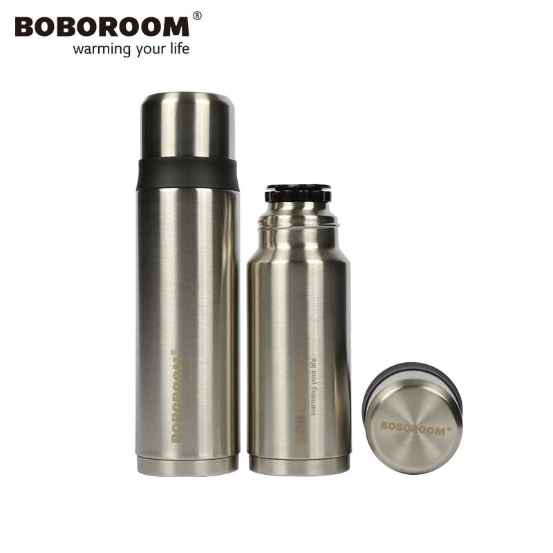 BOBOROOM Brand Thermos Mug 2017 New Arrival Garrafa Termica 500ML 350ML Thermos For Tea Sliver Stainless