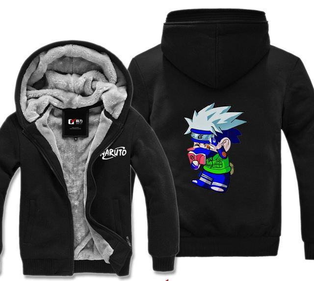 Naruto Kakashi Winter Hoodies