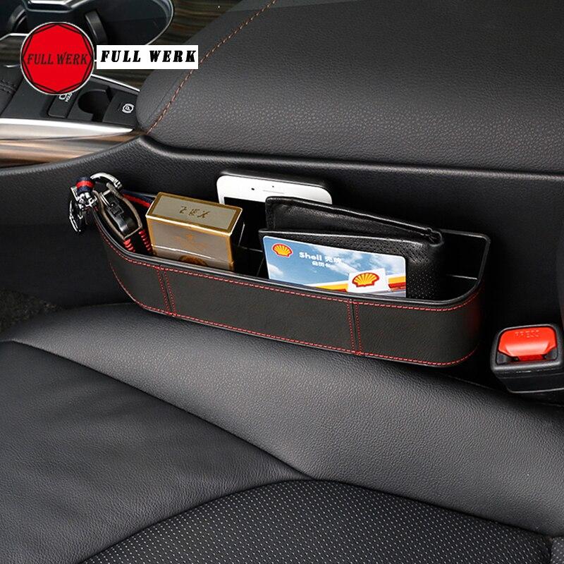 1 paire de siège de voiture étanche boîte de rangement pour 8th Camry 2018 siège Crevice boîte de rangement sac étui conteneur pour téléphone clé porte-monnaie