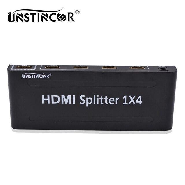 UNSTINCER HDMI Splitter 1X4 Конвертер Адаптер 1080 P Усилителя HDMI Переключатель 1 в 4 Из HDMI Конвертер адаптер для Apple TV