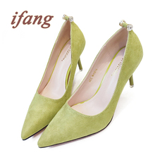 ifang 2016 Women Party Pumps Women's Shoes Bridal High Heels Women Wedding Pumps Victoria Office Shoes Woman