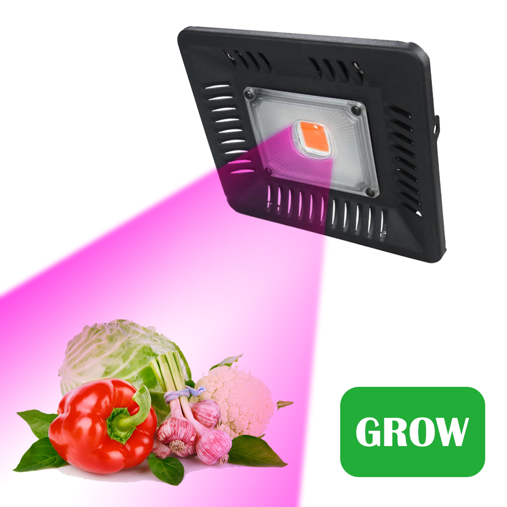 COB Led Plant Grow Light Full Spectrum Waterproof IP67 Ultra-Thin LED Grow Lamp For Vegetables Bloom Indoor Outdoor Plant