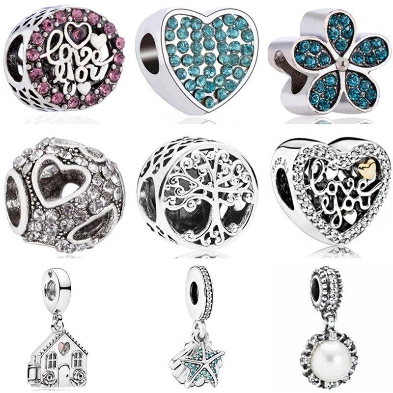 Bangles Jewelry Shell Bead-Fit Starfish Pandora Charms Pearl Women Making High-Quality
