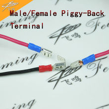 Buy cable wire gauge and get free shipping on aliexpress 100pcs insulated 22 10 gauge malefemale piggy back terminal wire connector cable greentooth Choice Image