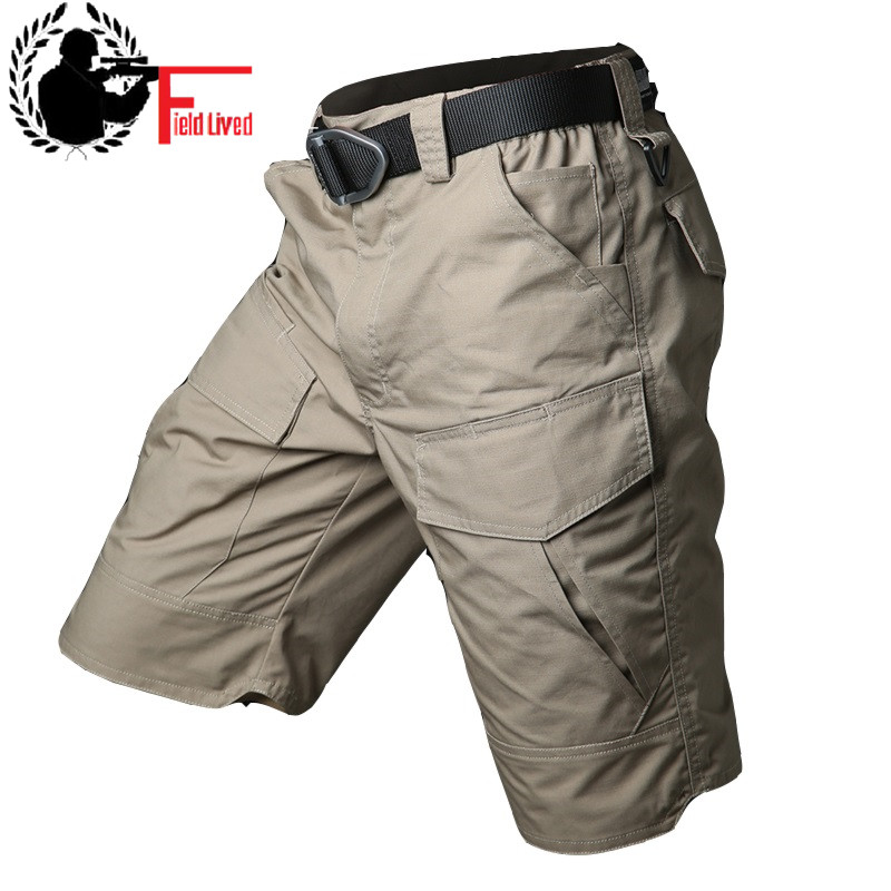 2019 Summer Waterproof Tactical Cargo Camo Shorts Men Bermuda Camouflage Army Military Short Male Casual Capris Urban Shorts