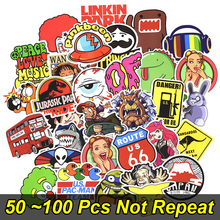 Hot 50-100 PCS Mix Stickers voor Laptop Skateboard Bagage Auto Styling Bike JDM Doodle Decals Cool Waterproof Sticker als afbeelding