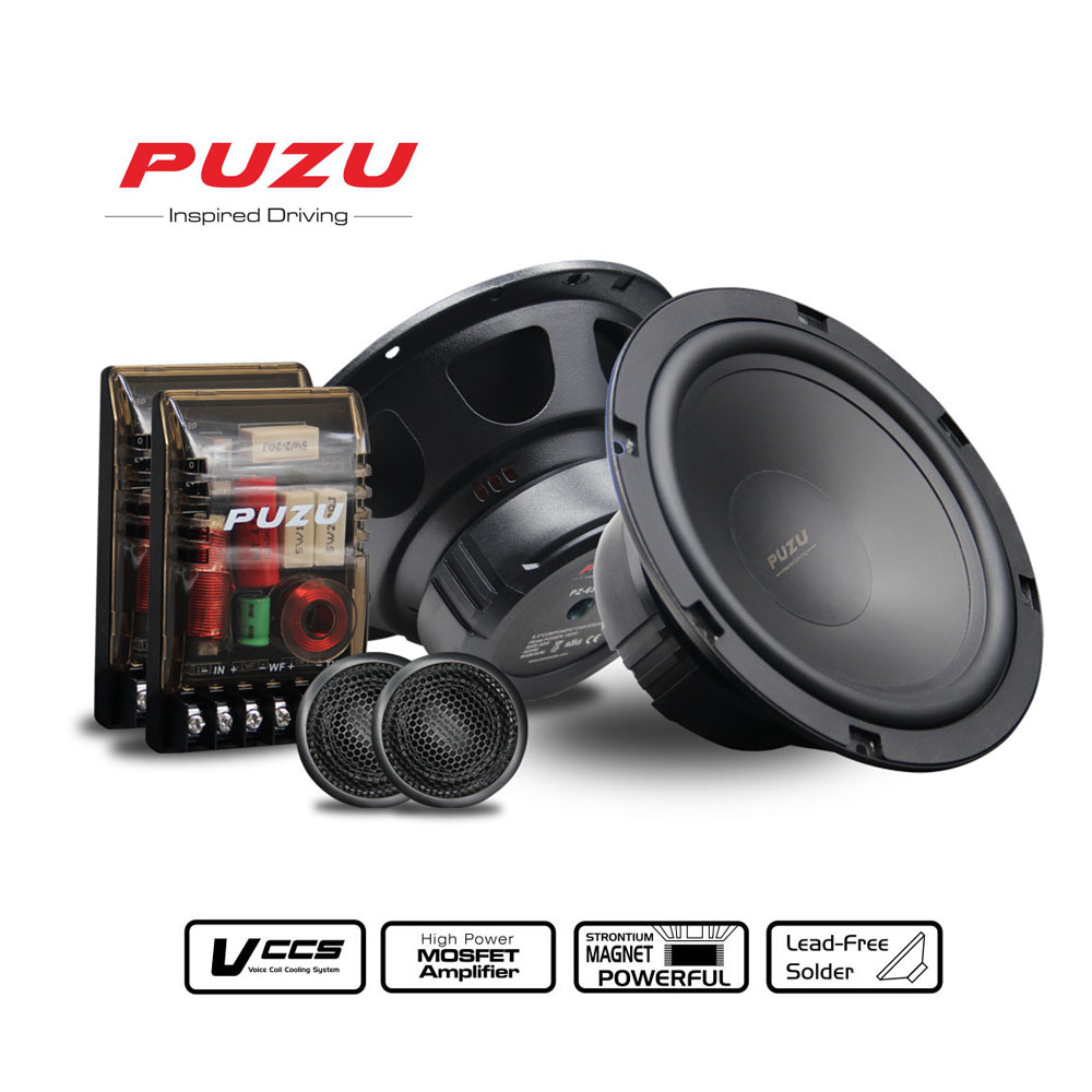 """High power ouput 180Watts  6.5"""" Car audio speakers component tweeter mid range bass universal car sound upgrade speakers