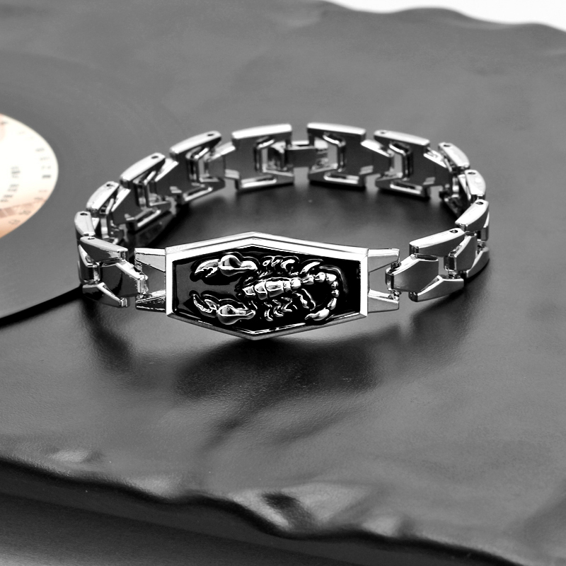 Hesiod Stainless Steel Scorpion Charm Bracelets Men