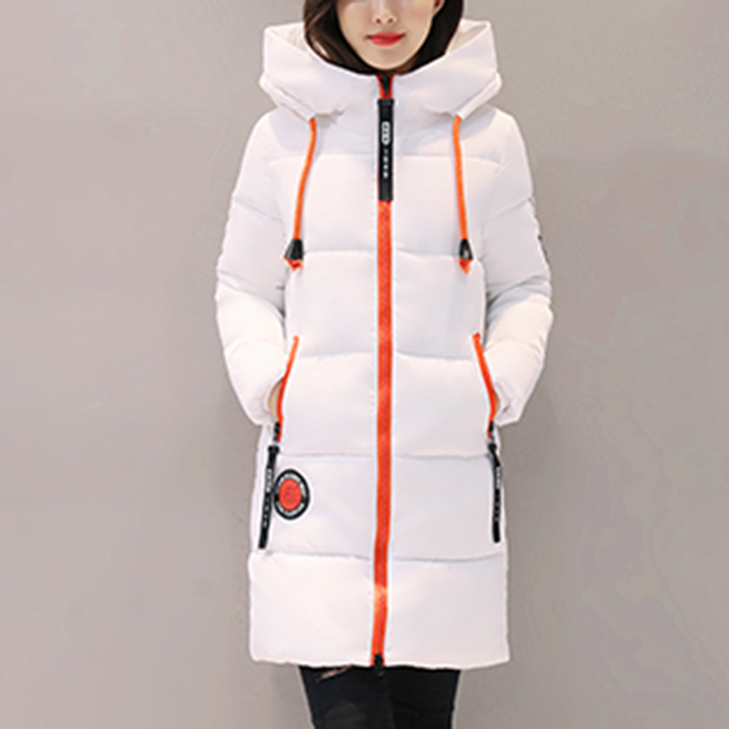 2017 Winter Jacket Women Thick Mid-long Women Parkas Hooded Female Outwear Coat Cotton Padded Female Overcoat цены онлайн