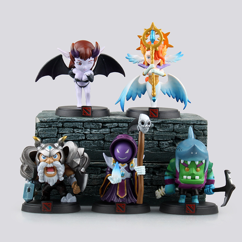 WVW 5pcs/Set DOTA2 the queen of pain QOP Leviathan SM  Model PVC Toy Action Figure Decoration For Collection Gift japan warring states warriors q version of the war era of japanese samurai toy model decoration collection 7pcs set