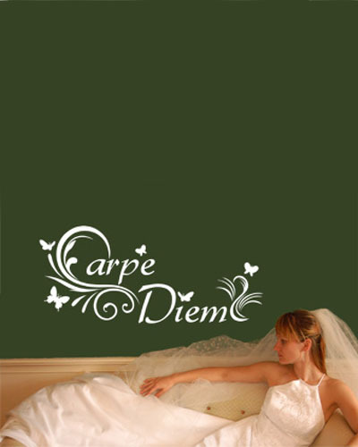 Classic Wall Paper Latin Carpe Diem Seize The Day Wall Sticker Quotes Modern Wall Art De ...
