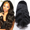 100% Human Hair Brazilian Body Wave Full Lace Wig Virgin Hair Wigs For African American Real Hair Lace Front Wig For Black Women