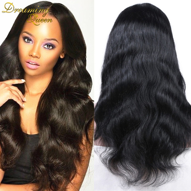 bc0e02d0f 100% Human Hair Brazilian Body Wave Full Lace Wig Virgin Hair Wigs For  African American Real Hair Lace Front Wig For Black Women