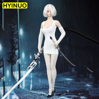2 Colors 1/6 Scale Neil Mechanical Style Era Women Sexy Dress Female Miss 2B Clothes Clothing Set For 12 Action Figure Body