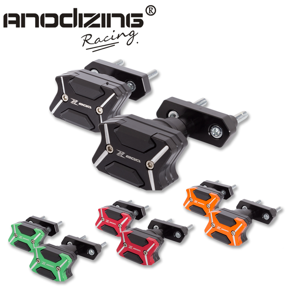 2017 NEW CNC Aluminum Left and Right Motorcycle Frame Slider Anti Crash pads Protector For KAWASAKI Z800 2013-2015 цена и фото