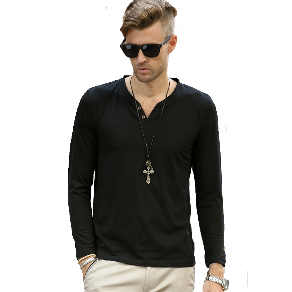Buy Mens Solid Casual T Shirt Long Sleeve