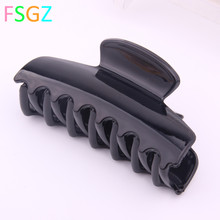 DIY Plastic hair accessories big size claws shining black grasp clips shower for women 10pcs/lot