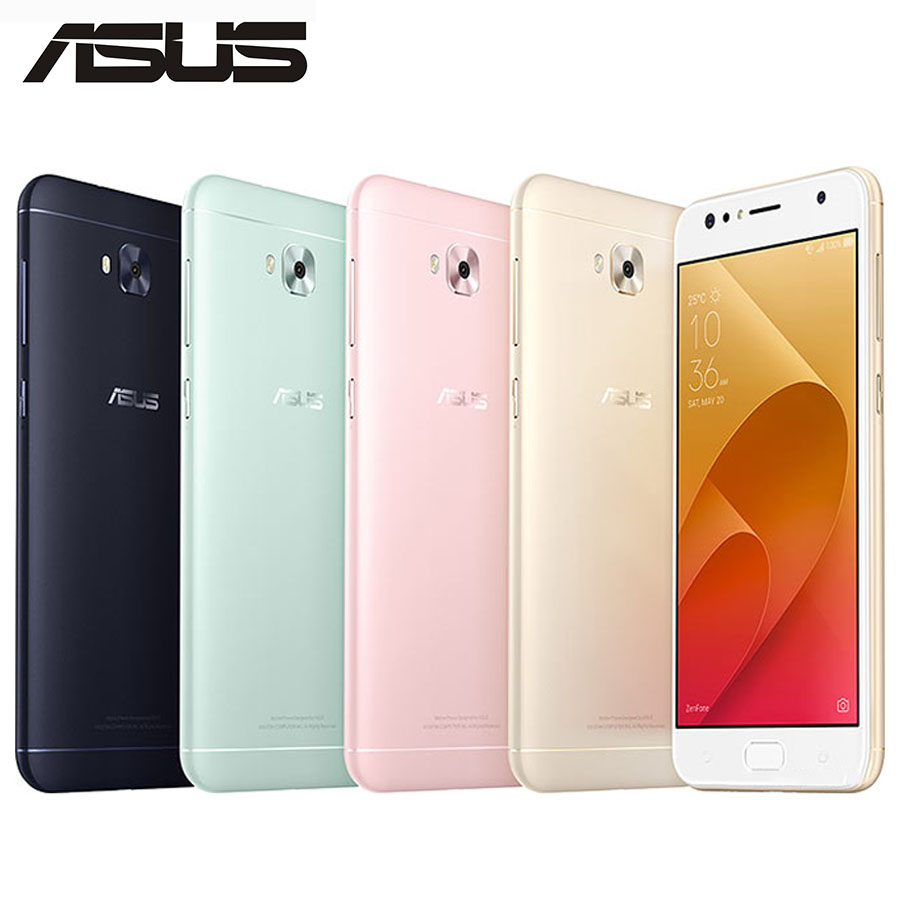 ASUS Selfie Phone ASUS ZenFone 4 Selfie ZD553KL 4G LTE Mobile Phone 4GB 64GB OctaCore 5.5 16MP+20MP Camera Dual SIM Android 8.1