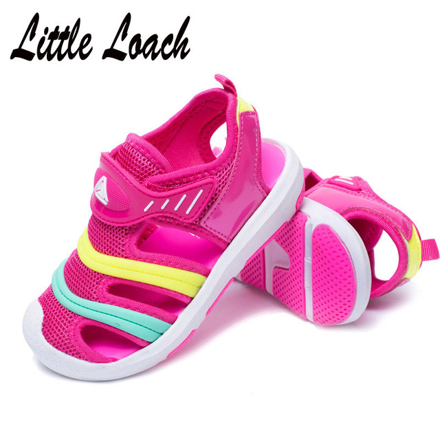 Kids Summer Beach Shoes Closed Toe Sandals Boys Girls Teenage or Toddler 3  Colors Anti-skid Mesh Shoes Soft Sandals Size 25-37 f42649d777dd