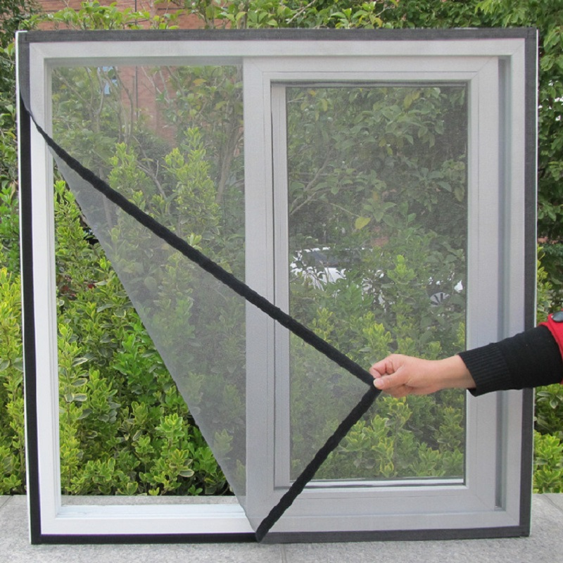 DIY Fly Screen Window Door Mesh White Black Insect Fly Mosquito Bug Screen Self adhesive Anti mosquito Net Sheer Curtains Summer