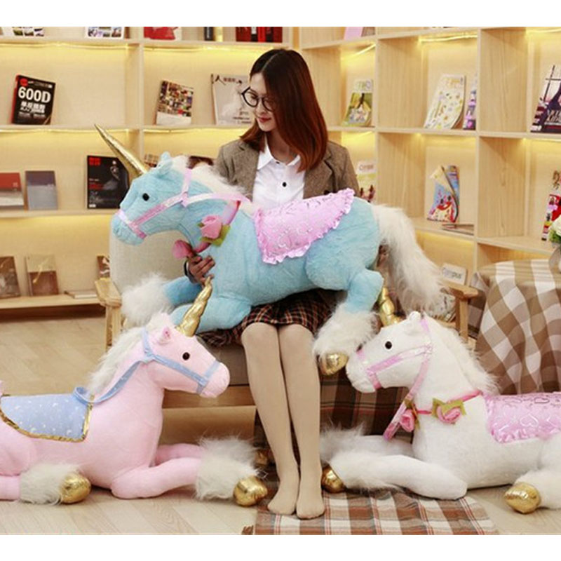 Fancytrader giant stuffed plush horse toys kids animated riding horses for girls 100cm 39inch fancytrader 39 100cm lovely giant plush stuffed braces dressing pig toy best gift for kids girls free shipping ft50078