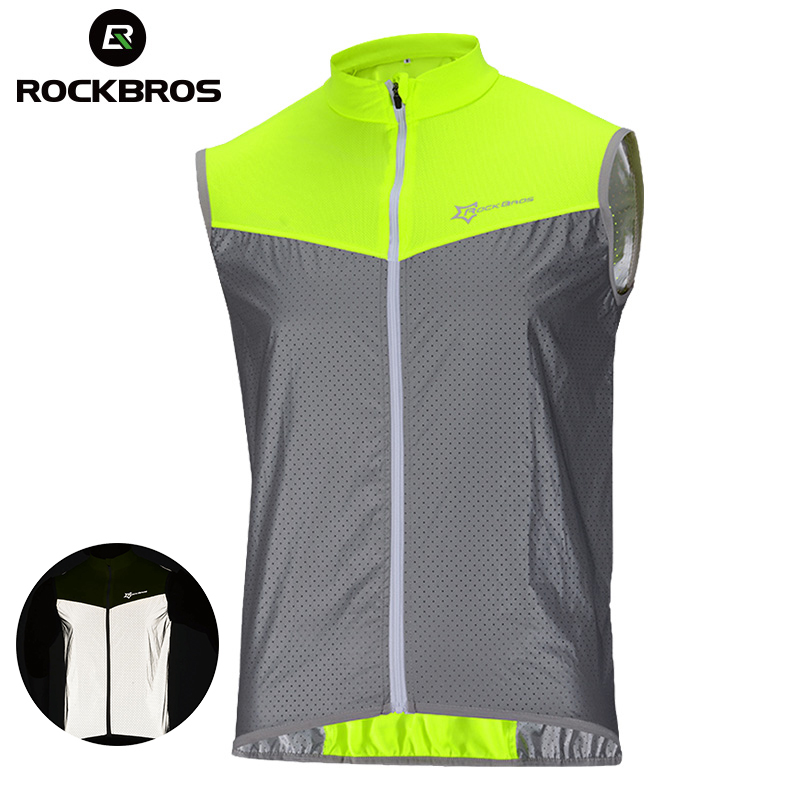ROCKBROS Jacket Sport-Jersey Reflective Bicycle t-Shirt Short Bike Warning-Safety Breathable