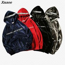 New Autumn Winter Solid Letter Fashion Trend of hip hop mens kanye west Streetwear Hoodies Men pullover Sweatshirts 5XL Xnxee qoolxcwear kanye west hoodies sweatshirts winter men women hip hop multi colour hoodies fleece sweatshirts