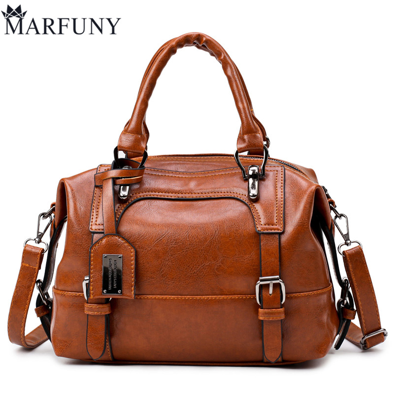 MARFUNY Brand Boston Women Bag Female Shoulder Bags Handbags Women Famous Designer PU Leather Tote Bag Fashion Belts Bags Ladies luxury famous brand women female ladies casual bags leather hello kitty handbags shoulder tote bag bolsas femininas couro