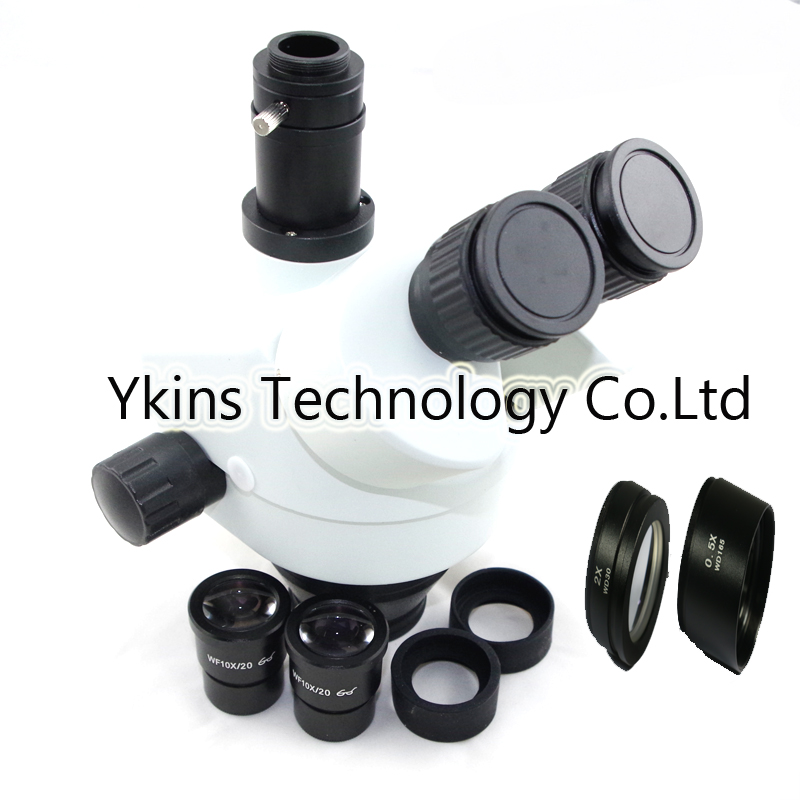7 45X 7 90X 3 5 90X Continue Zoom visual Trinocular Stereo Zoom Microscope head for