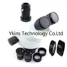 7-45X/7-90X/3,5-90X Продолжить Зум визуальный тринокуляр стерео зум микроскоп головка для промышленного смарттелефон pcb ремонт